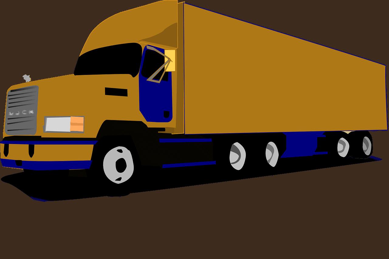 משאית בצבע זהב